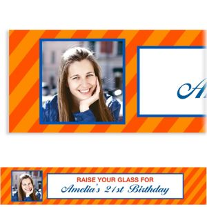 Custom Orange Generic Ticket Photo Banner