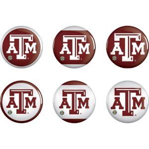 Texas A&M Aggies Buttons 6ct