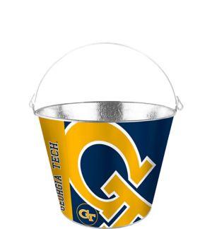 Georgia Tech Yellow Jackets Galvanized Bucket