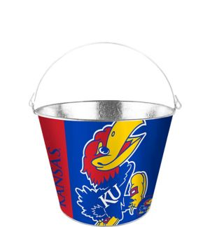 Kansas Jayhawks Galvanized Bucket
