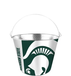 Michigan State Spartans Galvanized Bucket