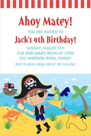 Custom Little Pirate Invitation
