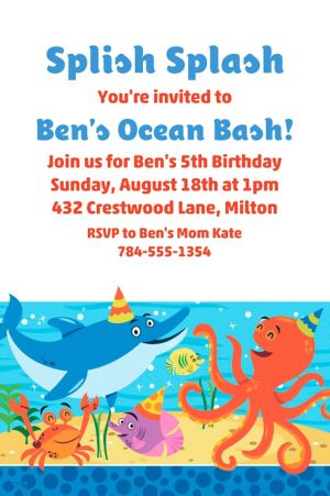 Custom Under the Sea Invitation