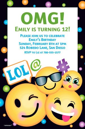 Custom Smiley Invitation