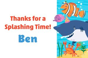 Custom Under the Sea Thank You Note