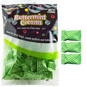 Kiwi Green Chevron Pillow Mints 50ct
