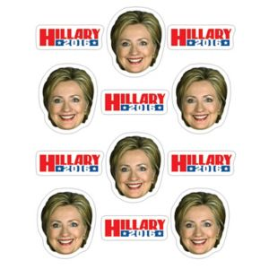 Hillary Clinton Stickers 2 Sheets