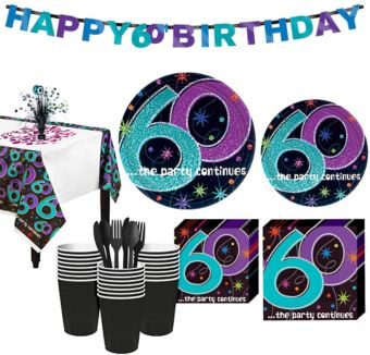 The Party Continues 60th Birthday Party Kit for 32 Guests