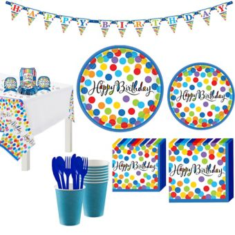 Bright Dot Birthday Party Kit for 36 Guests