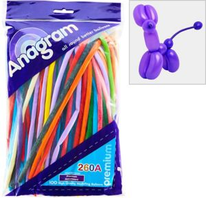 Long Multicolor Twisting Balloons 100ct