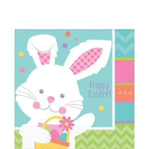 Hippity Hop Easter Bunny Lunch Napkins 16ct