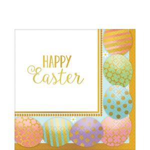 Golden Easter Egg Lunch Napkins 8ct