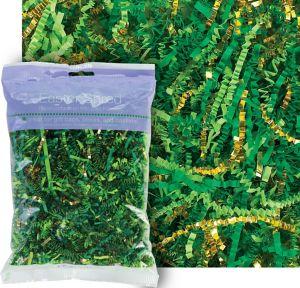 Gold & Green Paper Easter Grass