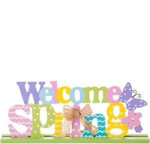 Welcome Spring Block Letter Sign