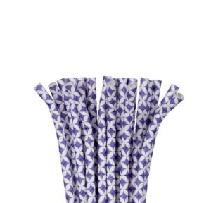 Purple Diamond Paper Straws 24ct