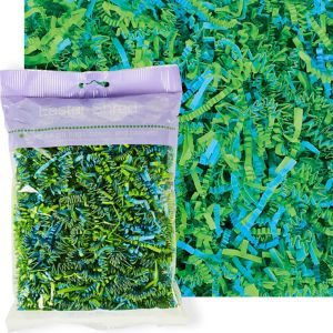 Green & Blue Paper Easter Grass