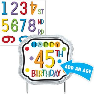Rainbow Happy Birthday Cake Topper Kit