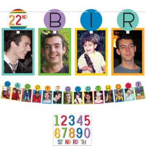 Rainbow Happy Birthday Photo Garland Kit