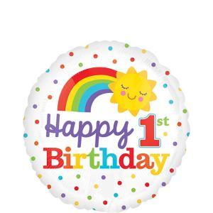 Rainbow 1st Birthday Balloon