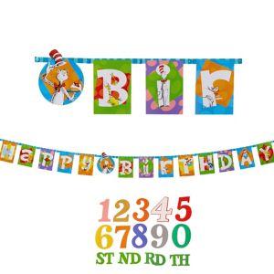 Dr. Seuss Birthday Banner Kit