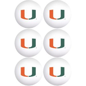 Miami Hurricanes Pong Balls 6ct