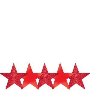 Mini Glitter Red Star Cutouts 5ct