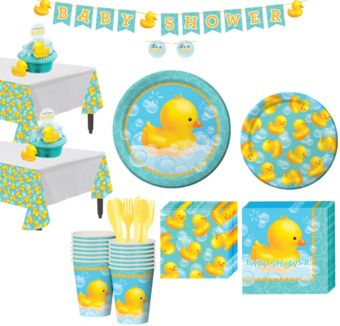 Bubble Bath Baby Shower Tableware Kit 16 guests