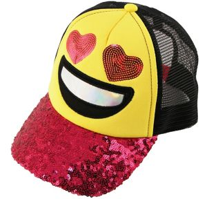Child Heart Eyes Smiley Trucker Hat