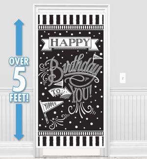 Chalkboard Dots Birthday Banner