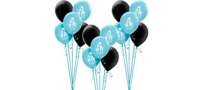 Blue Safari Boy Baby Shower Balloon Kit 30ct
