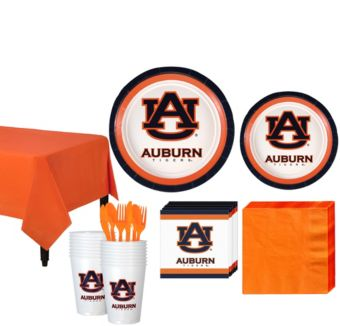 Auburn Tigers Basic Party Kit for 16 Guests