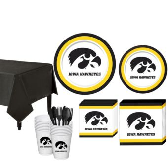 Iowa Hawkeyes Basic Party Kit for 16 Guests