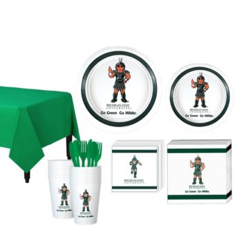 Michigan State Spartans Basic Party Kit for 16 Guests