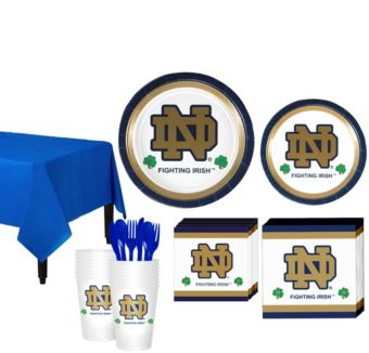 Notre Dame Fighting Irish Basic Party Kit for 16 Guests