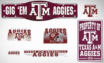 Texas A&M Aggies Dorm Room Kit