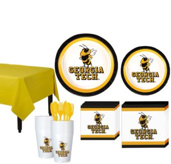 Georgia Tech Yellow Jackets Basic Party Kit for 16 Guests