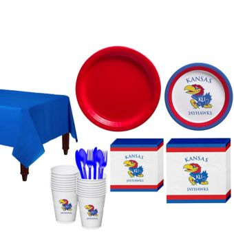 Kansas Jayhawks Basic Party Kit for 16 Guests
