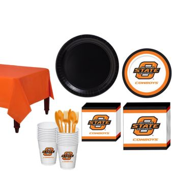 Oklahoma State Cowboys Basic Party Kit for 16 Guests