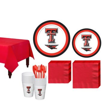 Texas Tech Red Raiders Basic Party Kit for 16 Guests