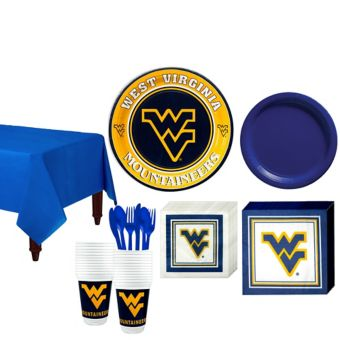 West Virginia Mountaineers Basic Party Kit for 16 Guests