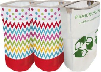 Bright Rainbow Polka Dot & Chevron Clean-Up Kit