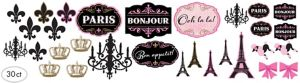 A Day in Paris Cutouts 30ct