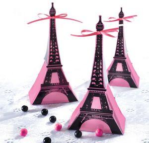 A Day in Paris Favor Boxes 12ct
