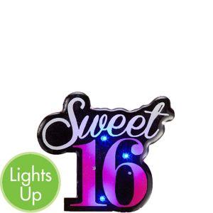Light-Up Sweet 16 Button