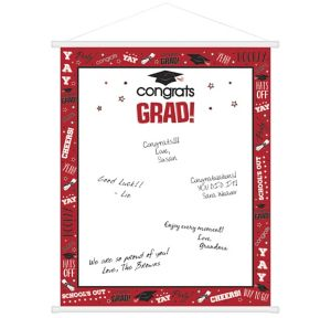 Red Graduation Sign-In Sheet