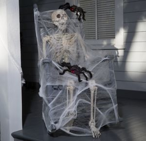 Spider Webbed Skeleton Decorating Kit