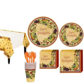 Thanksgving Medley Tableware Kit for 8 Guests