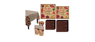 Autumn Tradiations Fall Tableware Kit for 18 Guests
