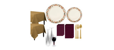 Premium Thanksgiving Tableware Kit for 20 Guests