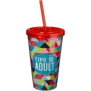 Future is Bright Double Wall Tumbler with Straw